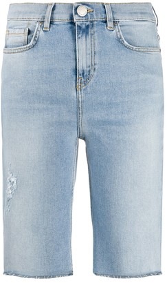 Pinko Long Denim Shorts