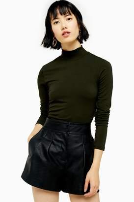 Selected Womens **Khaki High Neck T-Shirt By Khaki