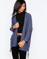 Only 3/4 Sleeve Cardigan With Braid Detail