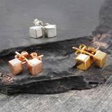 Otis Jaxon Silver Jewellery Cube Tiny Silver/Rose Gold Jewellery Stud Earrings