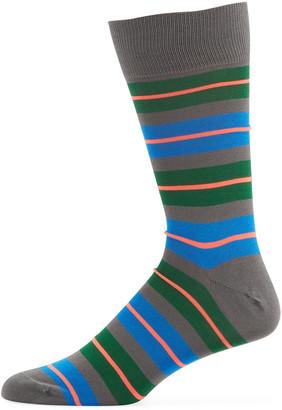Paul Smith Men's Donnie Neon Stripe Socks