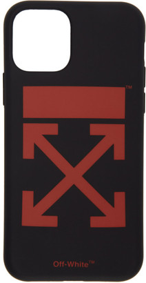 Off-White SSENSE Exclusive Black and Red Arrows iPhone 11 Pro Case