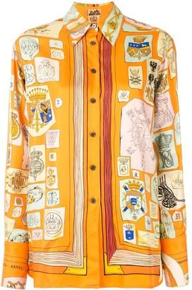 Hermes Pre-Owned Medieval Print Shirt