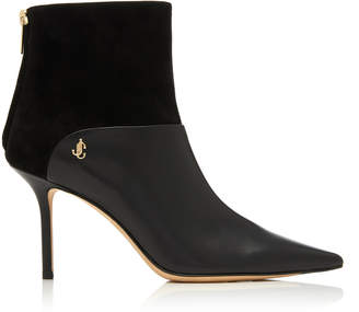 Jimmy Choo Beyla Suede-Paneled Leather Ankle Boots
