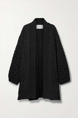 Mr. Mittens Cable-knit Wool Cardigan - Black