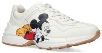 Gucci + Disney Leather Mickey Mouse Rhyton Sneakers