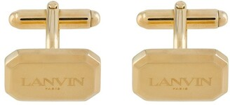 Lanvin engraved logo cufflinks