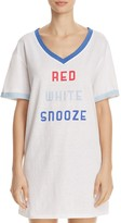 Honeydew Red White Snooze Chill Out Sleepshirt