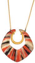 Alexis Bittar Lucite Angled Horseshoe Pendant Necklace