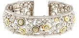 Judith Ripka Diamond Accent Cuff Bracelet
