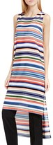 Vince Camuto Women's 'Escape Stripe' Sleeveless High/low Tunic