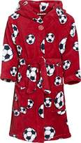 Playshoes Boy's Football Fleece Bathrobe