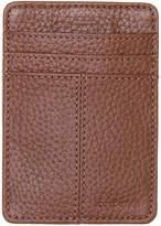Cole Haan Men's Front Pocket Leather Clip Wallet -Black