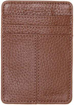 Cole Haan Men's Front Pocket Leather Clip Wallet -Brown