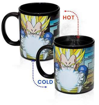 Dragon Ball Z Funky People Character Vegeta 14oz Mug That Changes Colors From Liquid Temperature