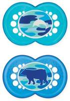 Mam Camo Age 16M+ Orthodontic Pacifier in Blue (Set of 2)