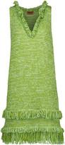 Missoni Metallic fringed crochet-knit dress