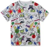 Stella McCartney arrow stickers print t-shirt