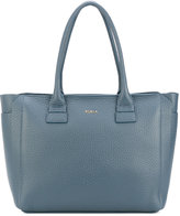 Furla grained effect tote - women - Leather - One Size