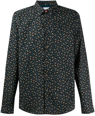 Paul Smith Long Sleeve Small Floral Print Shirt