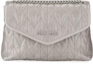 Miu Miu Shine Trapuntato Soft Shoulder Bag