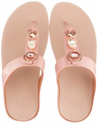 FitFlop Women's Fino Embellished Toe-Thongs Flat Sandal