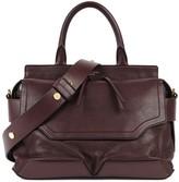 Rag & Bone Pilot Burgundy Leather Shoulder Bag