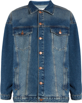 Raey Displaced-sleeve oversized denim jacket