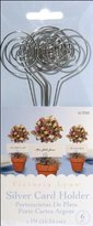 Darice VL12165 Wedding Circle Swirl Place Card Holder Pick, 6-Inch, Silver, 6 Per Pack