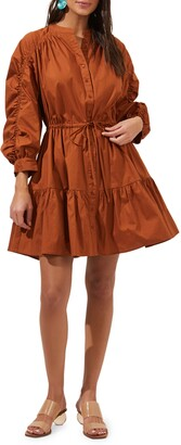 ASTR the Label Ruched Shirtdress