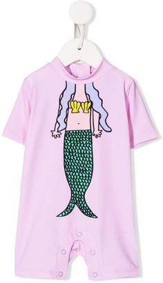 Stella Mccartney Kids Mermaid Print Swim Suit