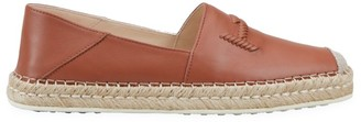 Tod's Double T Leather Espadrilles