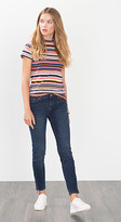 Esprit OUTLET zip detail five-pocket stretch jean