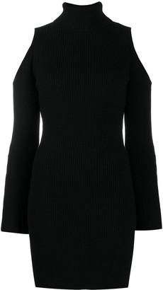 Elisabetta Franchi Cold-Shoulder Roll Neck Dress