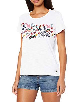 Superdry Women's Lexi Embroidered Tee T-Shirt,XX- (Size: 6)