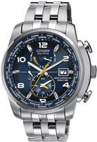 Citizen Eco-Drive World Time A.T. Radio-Controlled Bracelet Mens Watch