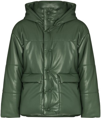Nanushka Hooded Short Padded Jacket