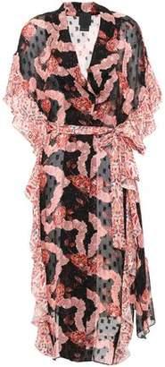 Anna Sui Ruffled Printed Fil Coupe Silk-chiffon Kimono