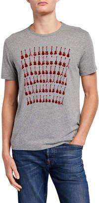 John Varvatos Men's Guitar Rows Graphic T-Shirt