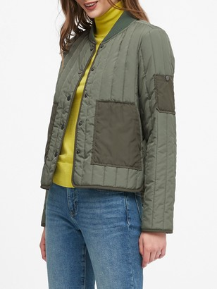Banana Republic Petite Water-Resistant Quilted Jacket