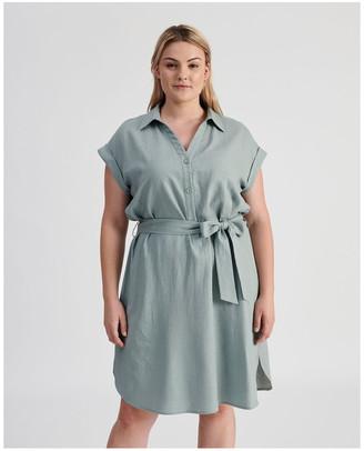 Piper Belted Shirt Dress Lt
