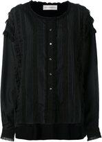 Faith Connexion lace detail collarless shirt