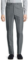 Brooks Brothers Wool Solid Flat Front Trousers