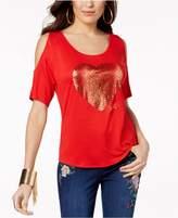 Thalia Sodi Heart Cold-Shoulder Top, Created for Macy's
