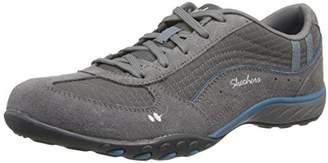 Skechers Breathe Easy Just Relax, Women's Low-Top Sneakers, Charcoal/Blue, (36 EU)