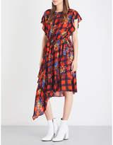 Preen Line Ora floral-print asymmetric crepe dress