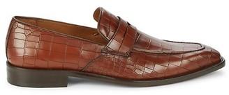 Mezlan Croc-Embossed Leather Loafers