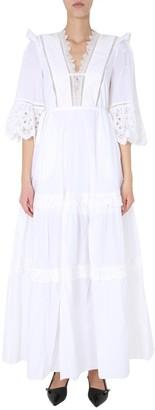 Self-Portrait Panelled Maxi Dress