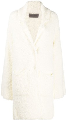 D-Exterior Single Breasted Teddy Coat