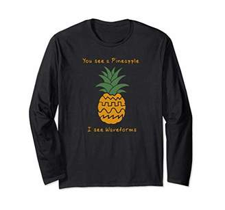 Funny Pineapple Synthesizer Long Sleeve T-Shirt